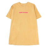 Surf Is Dead Blurred Vision T-shirt / Mustard - Deadstock.ca