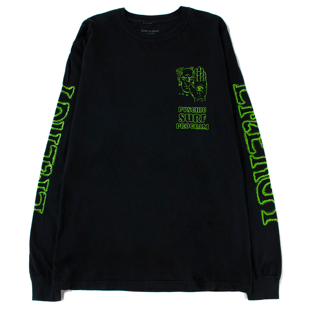 Surf Is Dead Psychic Surf Long Sleeve T-shirt / Black - Deadstock.ca