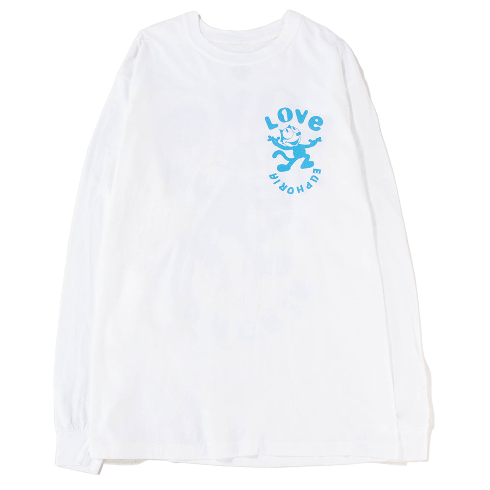 Surf Is Dead Euphoria Long Sleeve T-shirt / White - Deadstock.ca