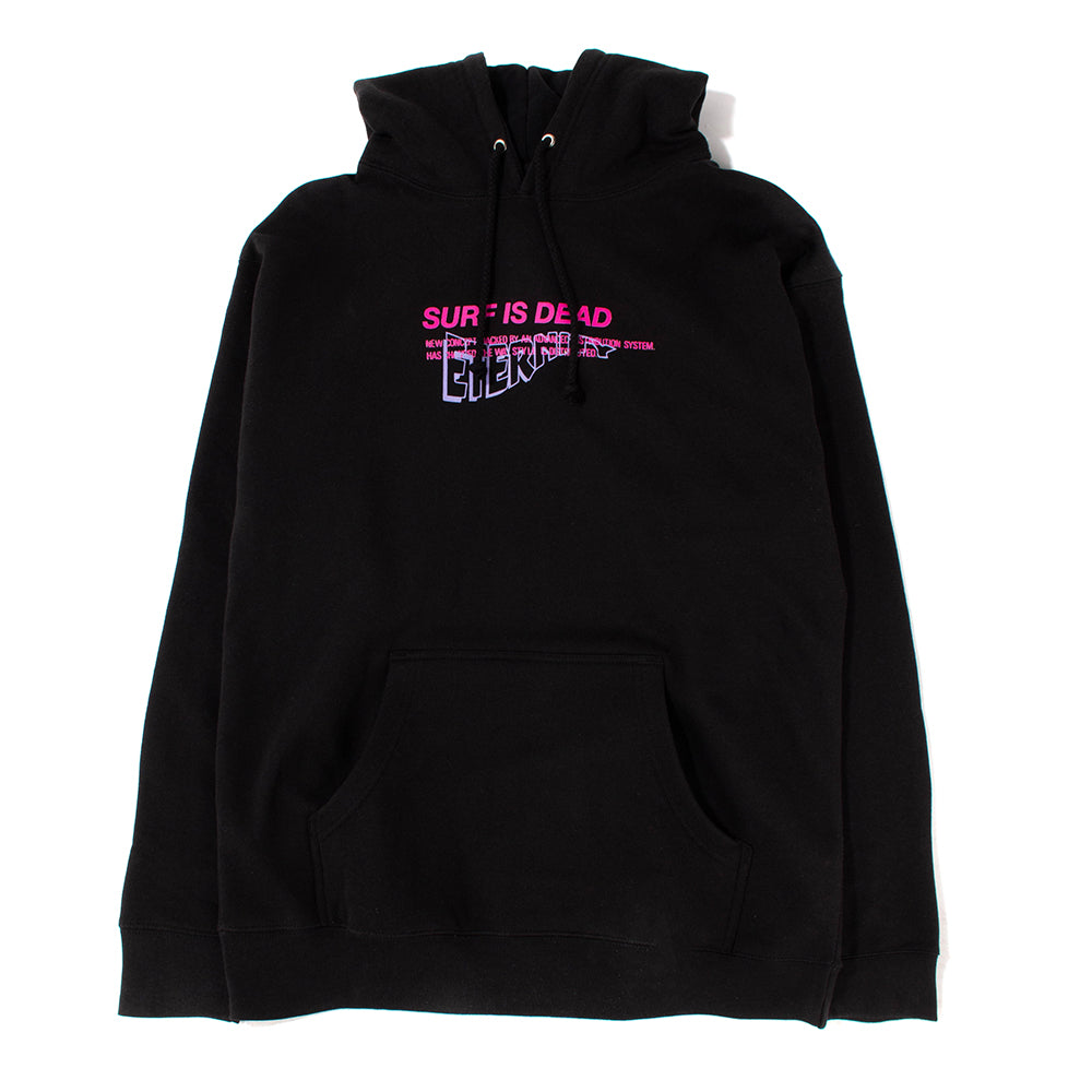 Surf Is Dead Eternity Pullover Hoodie / Black - Deadstock.ca
