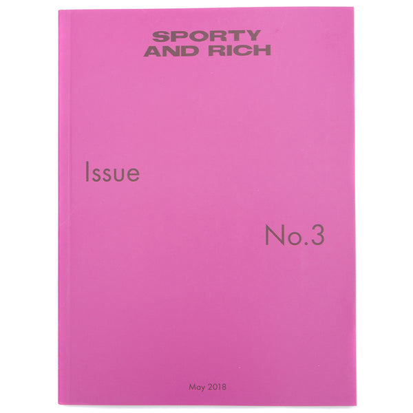 Style code SRI3. Sporty & Rich Issue 3