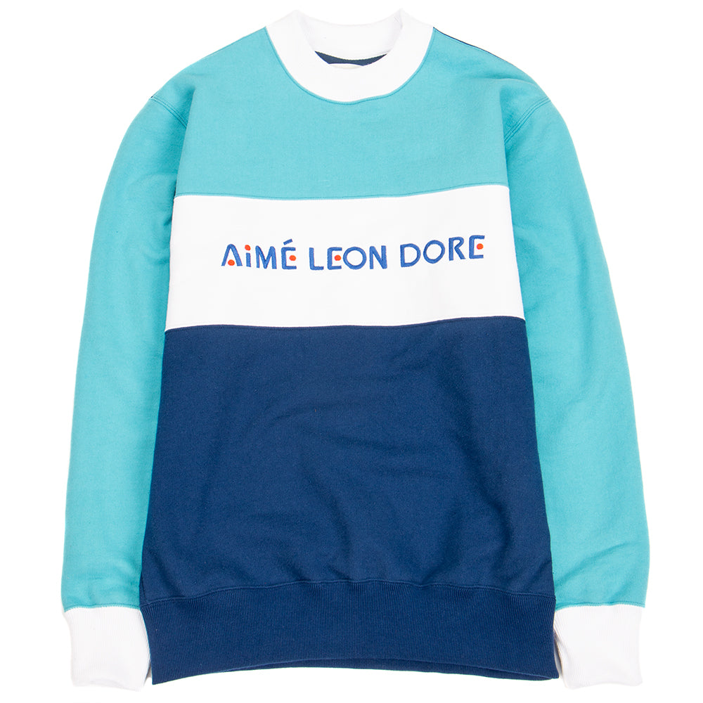 SS19CS001P Aimé Leon Dore Sport Color Blocked Pullover / Turtle Bay Blue Combo