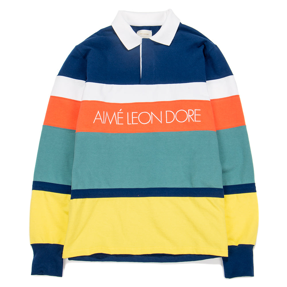 Aimé Leon Dore Long Sleeve Striped Rugby / Midnight Combo - Deadstock.ca