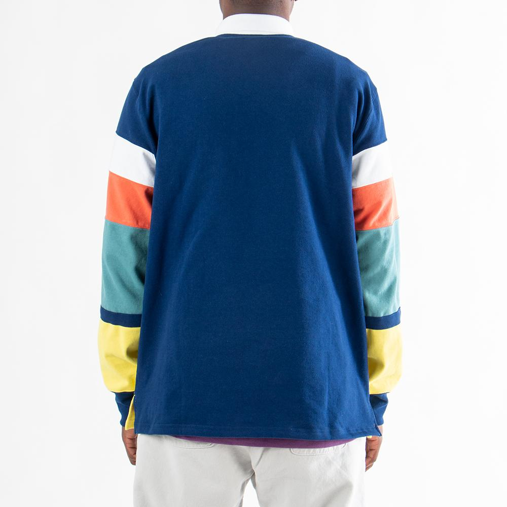 SS19CT013B Aimé Leon Dore Long Sleeve Striped Rugby / Midnight Combo