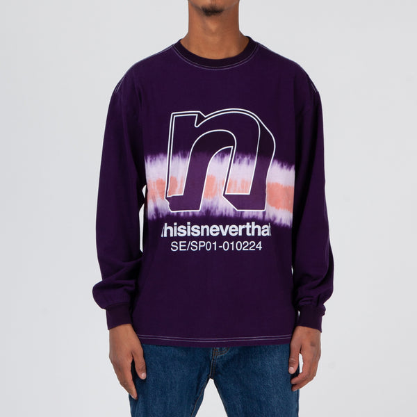 thisisneverthat N-Tie Dye Long Sleeve T-shirt / Purple
