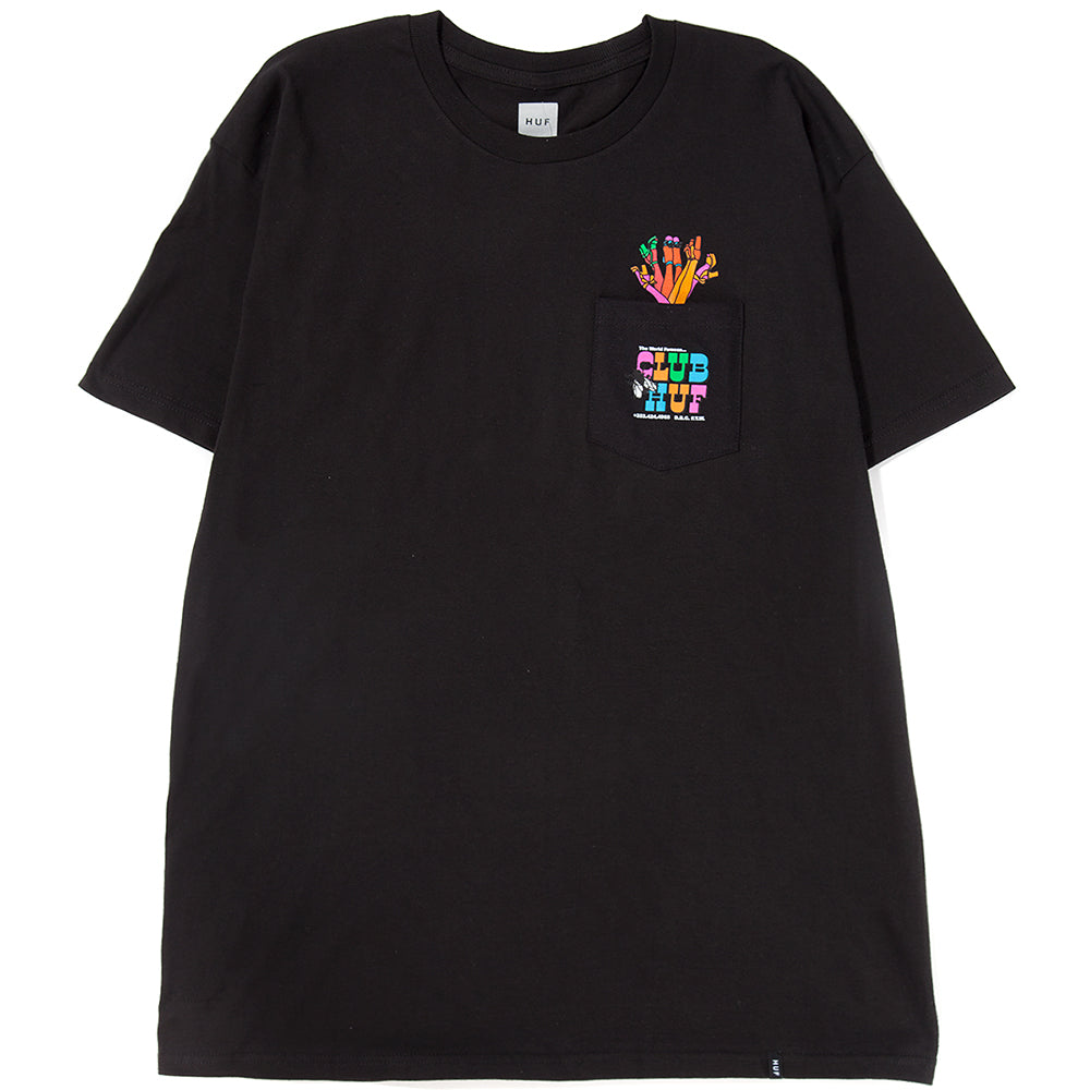 Style code TS00257SU18BLK. HUF Club Huf Pocket T-Shirt / Black