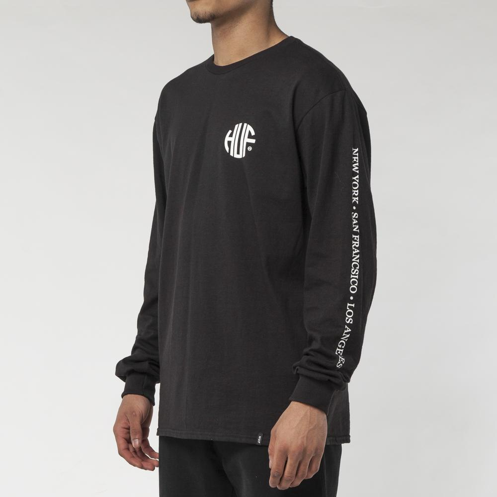 HUF REGIONAL LONG SLEEVE T-SHIRT / BLACK