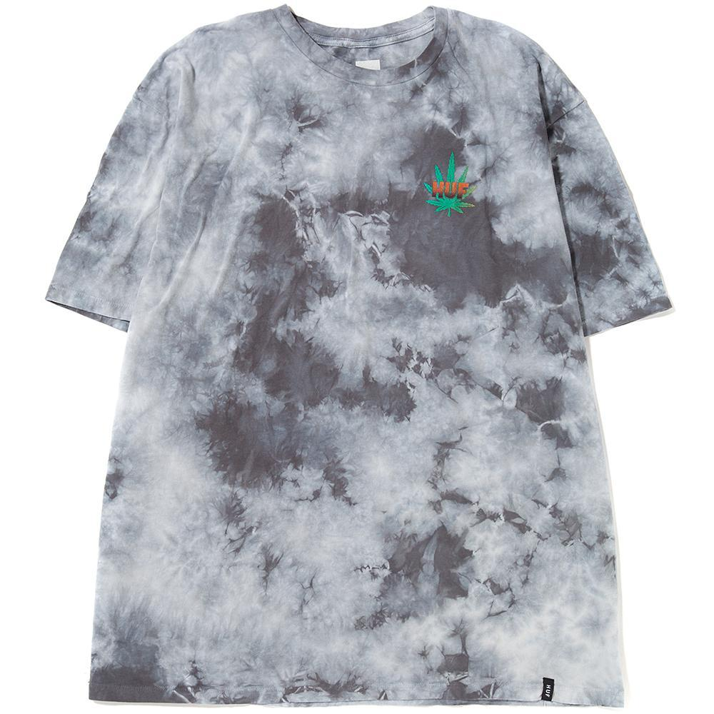 Style code TS00307SP18D1GCW. HUF BLACKLIGHT PANTHER T-SHIRT / GREY CRYSTAL WASH