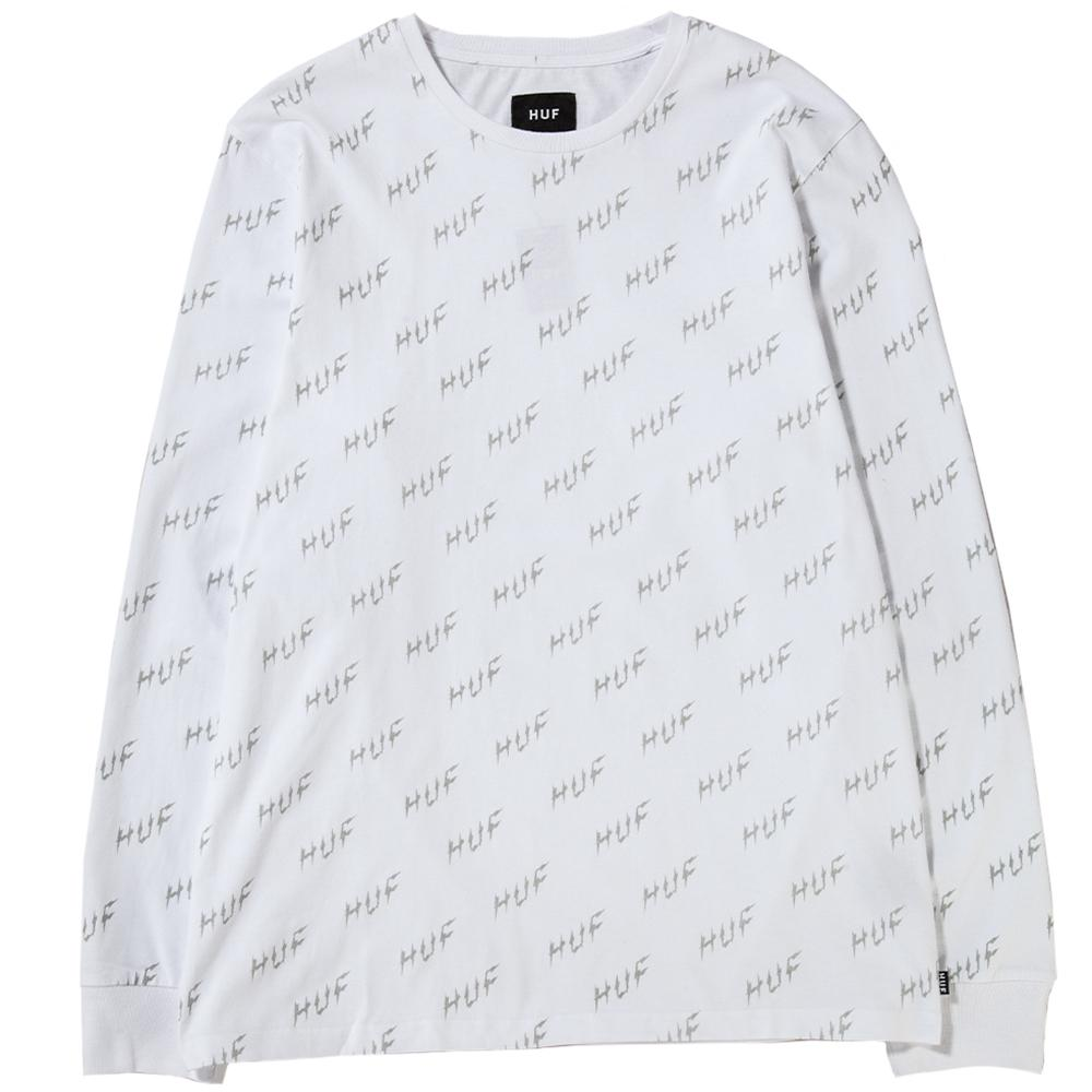 HUF Bolt All Over Long Sleeve T-Shirt / White