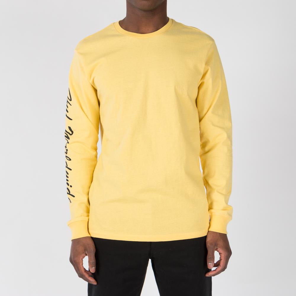 HUF X FELIX THE CAT SANTEE LONG SLEEVE T-SHIRT / BANANA