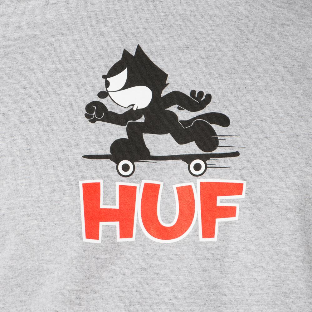 HUF X FELIX THE CAT SKATE T-SHIRT / HEATHER