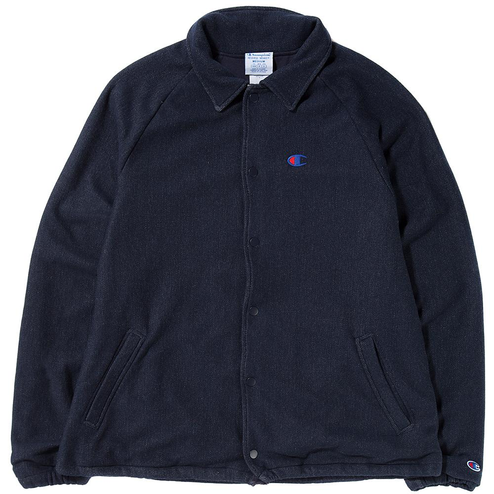 style code V0017031. CHAMPION LIVESTOCK REVERSE WEAVE FRENCH TERRY COACHES JACKET / NAVY