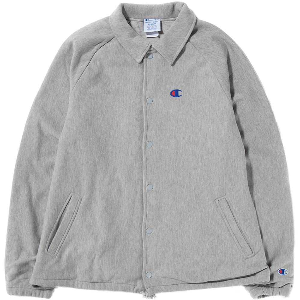 Style code V0017806. CHAMPION LIVESTOCK REVERSE WEAVE FRENCH TERRY COACHES JACKET / OXFORD GREY