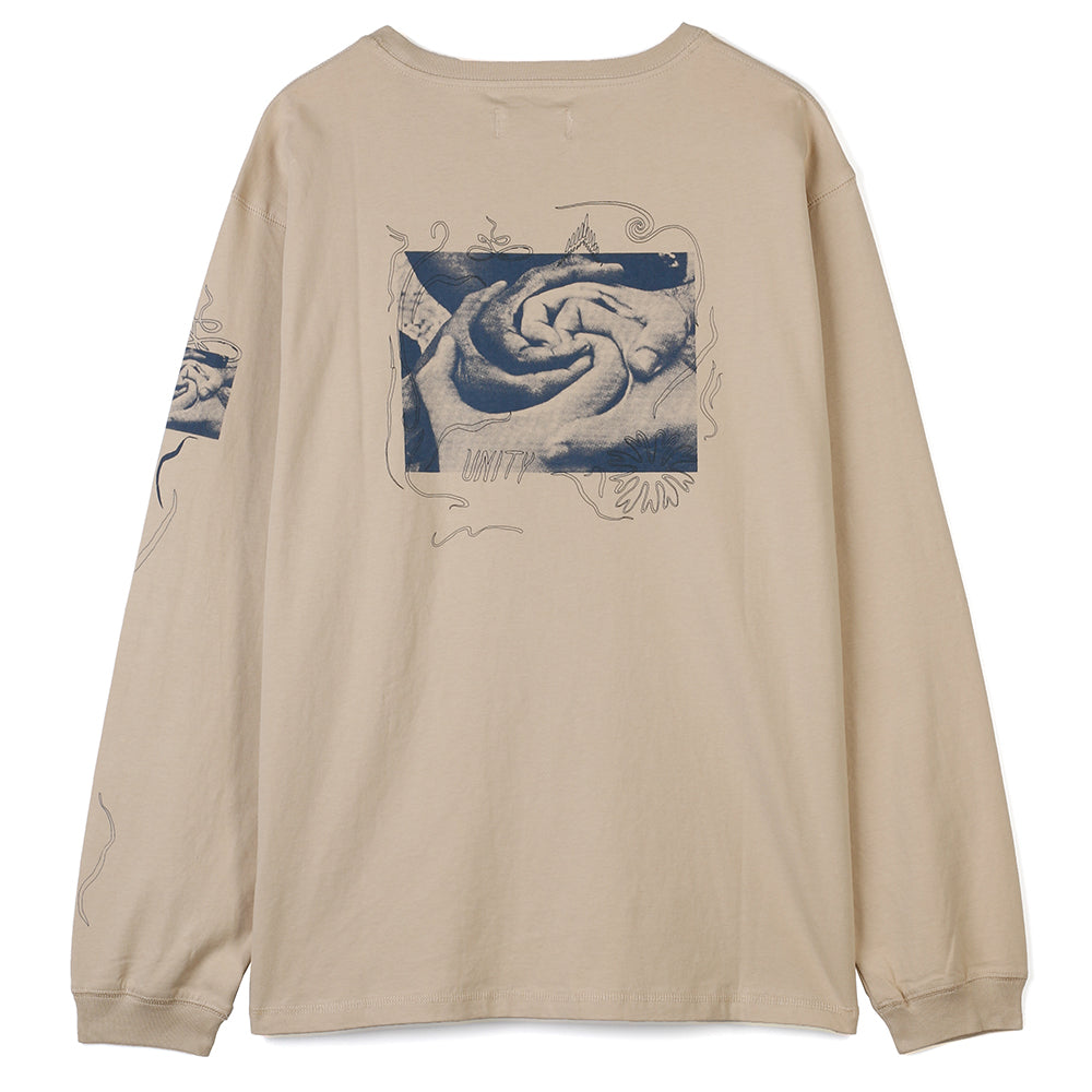 Satta Togetherness Long Sleeve T-shirt / Stone