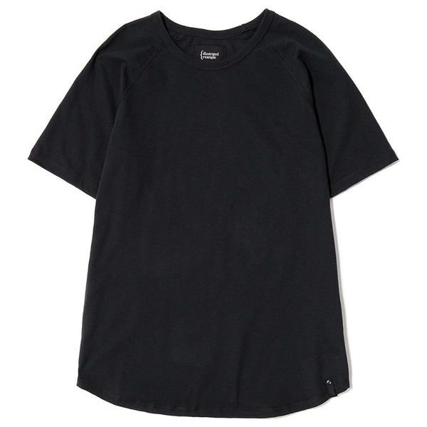 RAGLAN T-SHIRT / BLACK SLUB