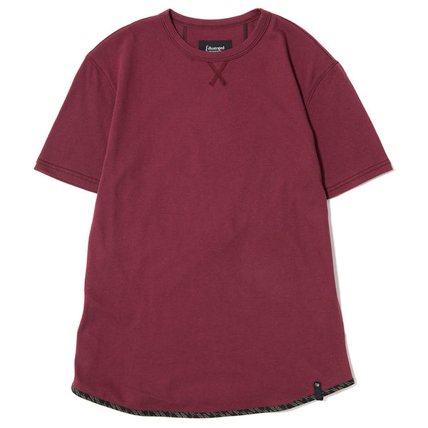 TRIANGLE T-SHIRT / BURGUNDY SUPIMA
