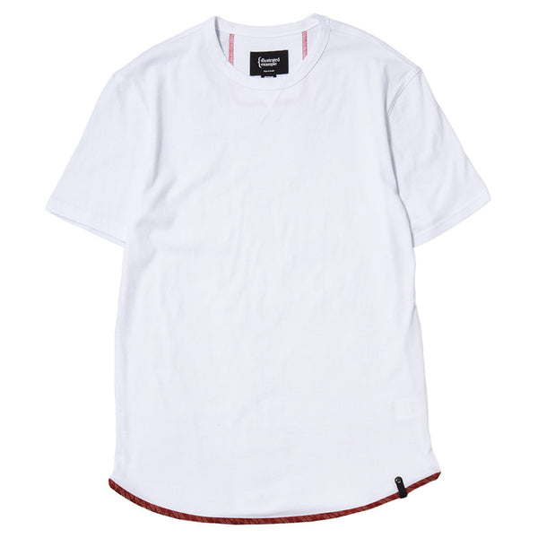 TRIANGLE T-SHIRT / WHITE SUPIMA