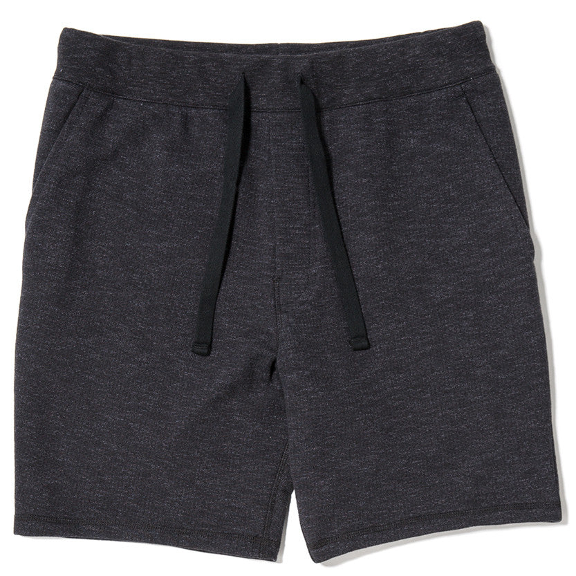 SLUB FRENCH TERRY SHORT / BLACK