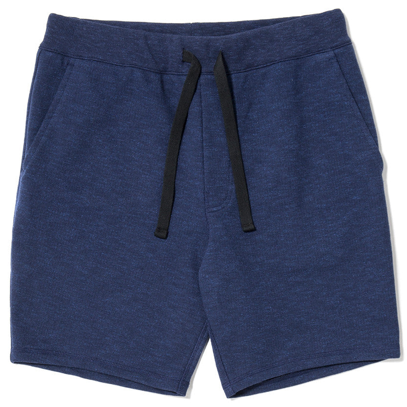 SLUB FRENCH TERRY SHORT / INDIGO