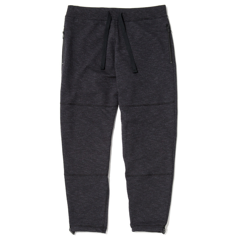 SLUB FRENCH TERRY SWEATPANT / BLACK