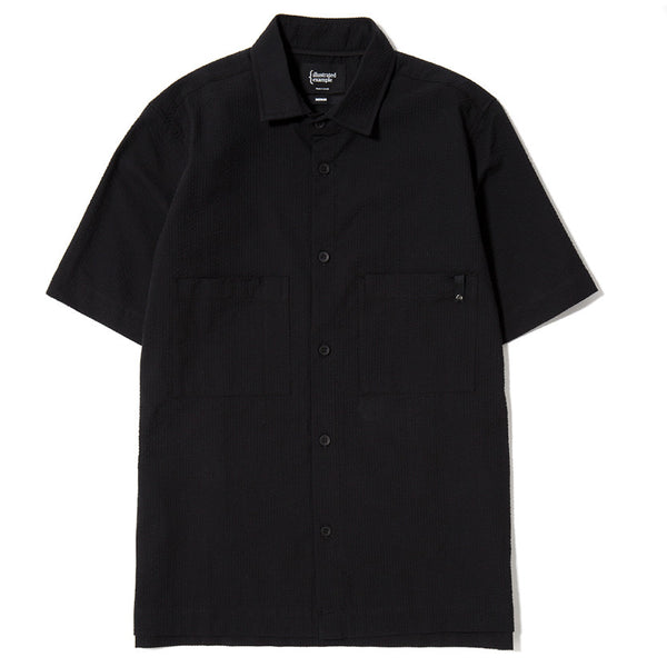 SS SEERSUCKER SHIRT / BLACK