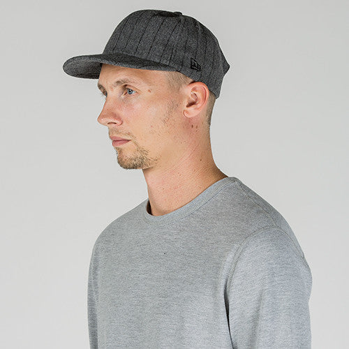 STRIPED WOOL 19TWENTY STRAP BACK / HEATHER GREY PINSTRIPE