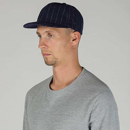 STRIPED WOOL 19TWENTY STRAP BACK / NAVY PINSTRIPE
