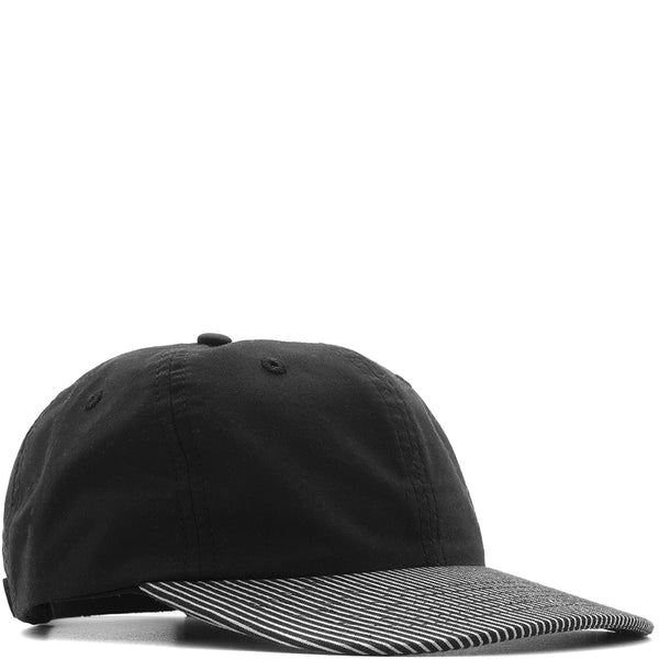 BASEBALL HAT / BLACK WHISPER POPLIN