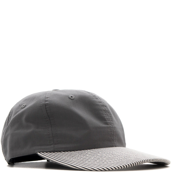 BASEBALL HAT / GREY WHISPER POPLIN