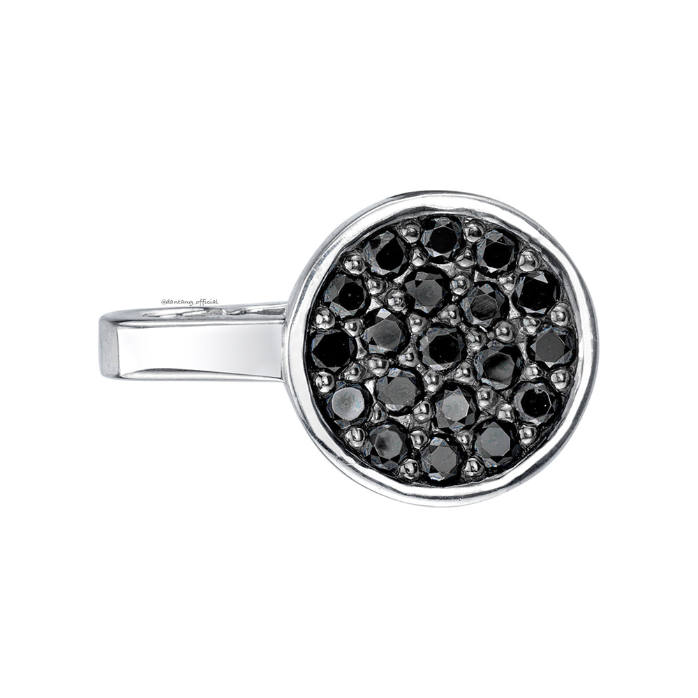 Tangent Black Diamond Button Clip
