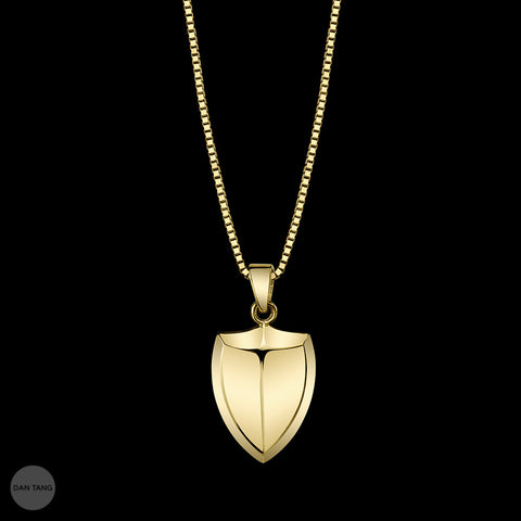 SHIELD PENDANT YELLOW GOLD