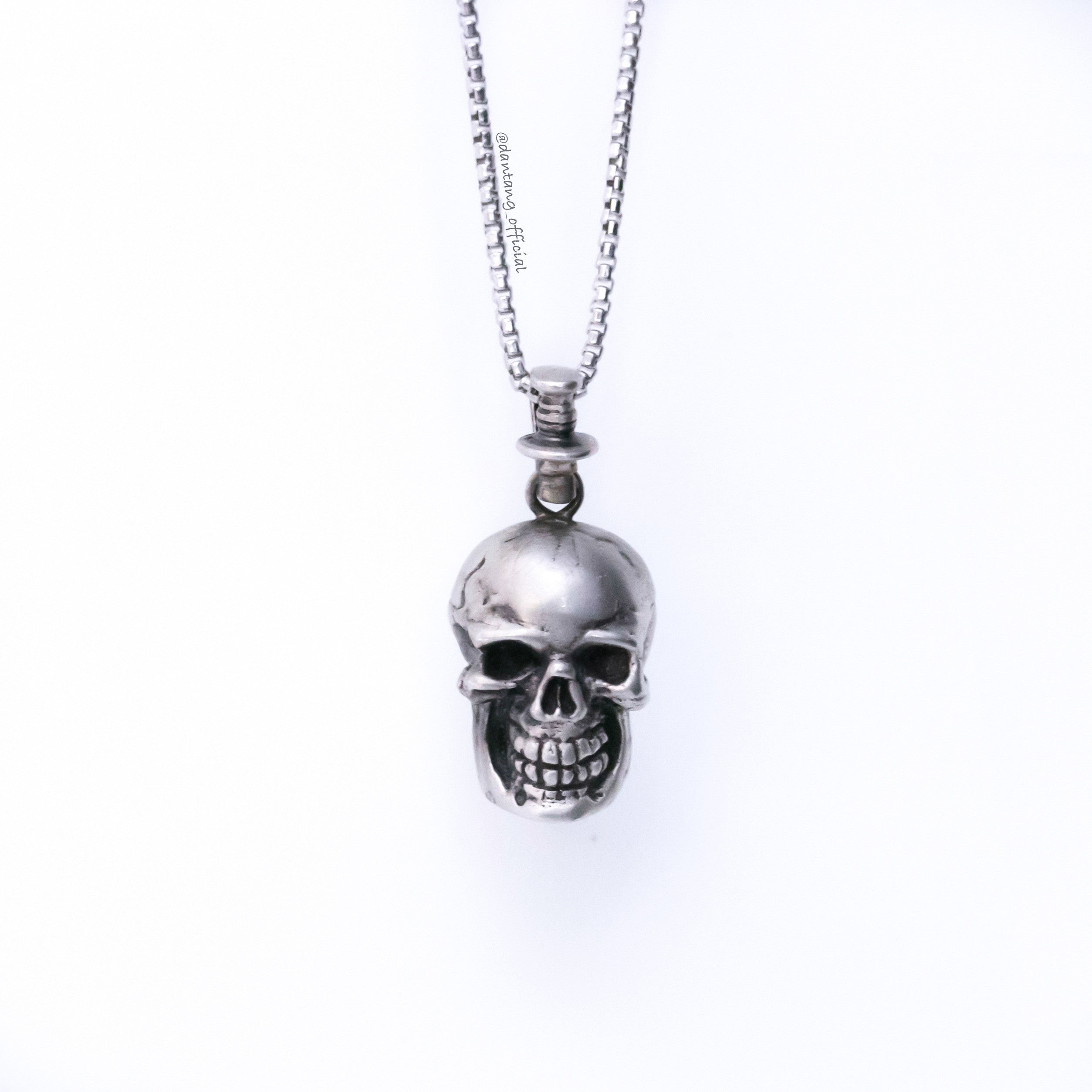 skull gate small s ro men chain roen item store upper and rakuten women mens song fassi en x pendant market zirconia necklace silver global black