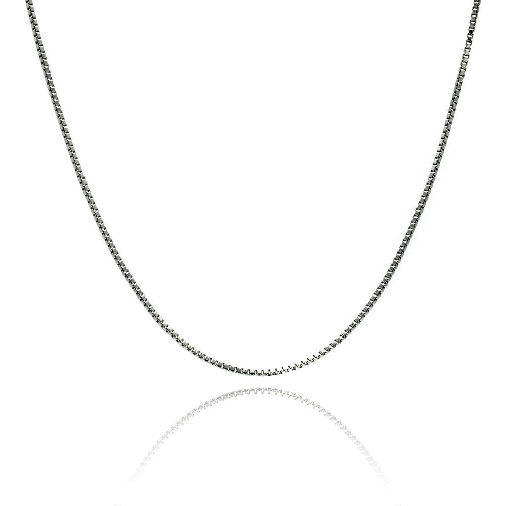 "SILVER BOX CHAIN 30"" LENGTH 1.4MM"