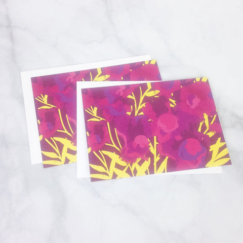 Smudge Ink Note Card Set