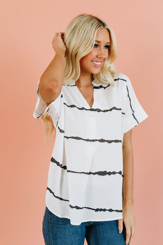 Live A Little Ruffle Detail Top