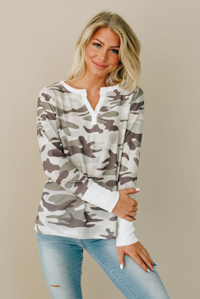 Blend Right In Thermal Tee