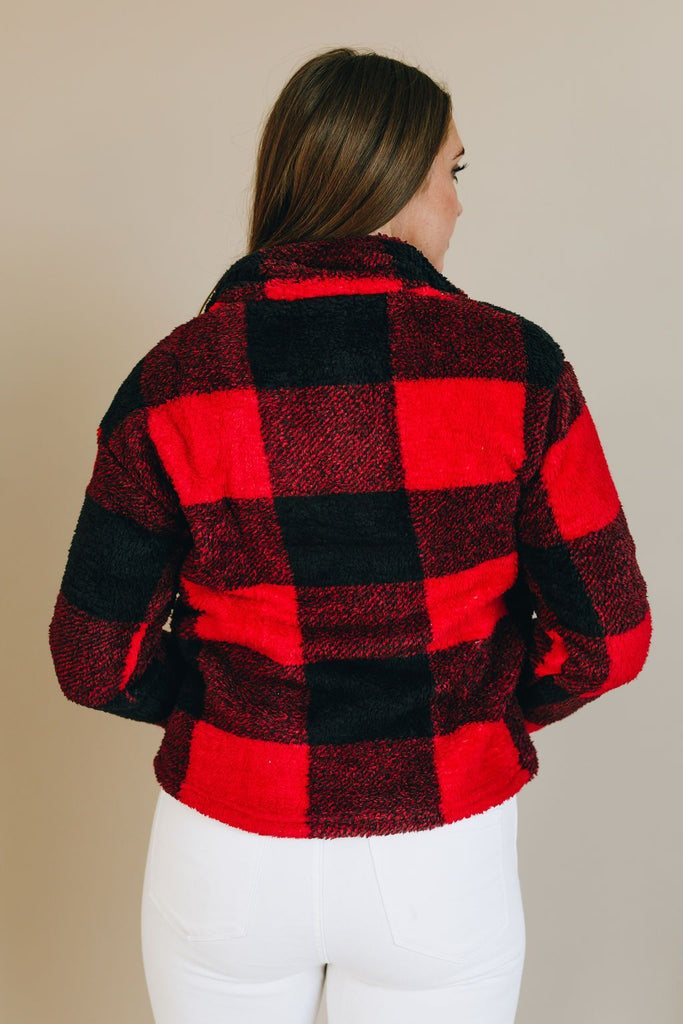 Mad for Plaid Half Zip Pullover
