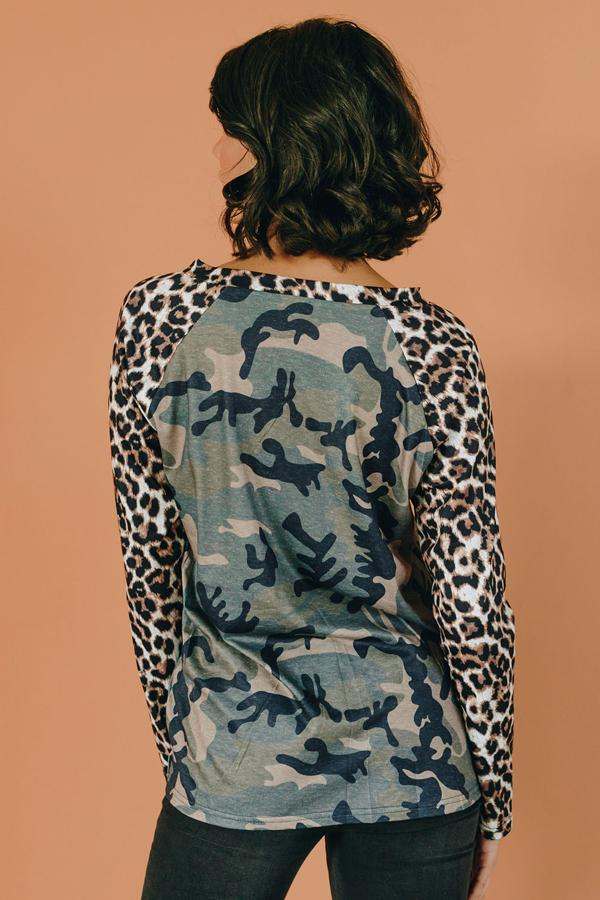 Crazier Things Leopard Camo Top