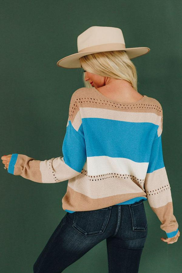 Zoey Knitted Color Block Sweater