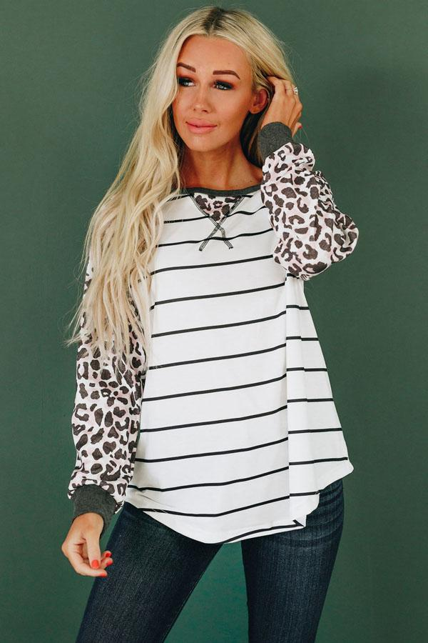 Rock and Wild Leopard Top