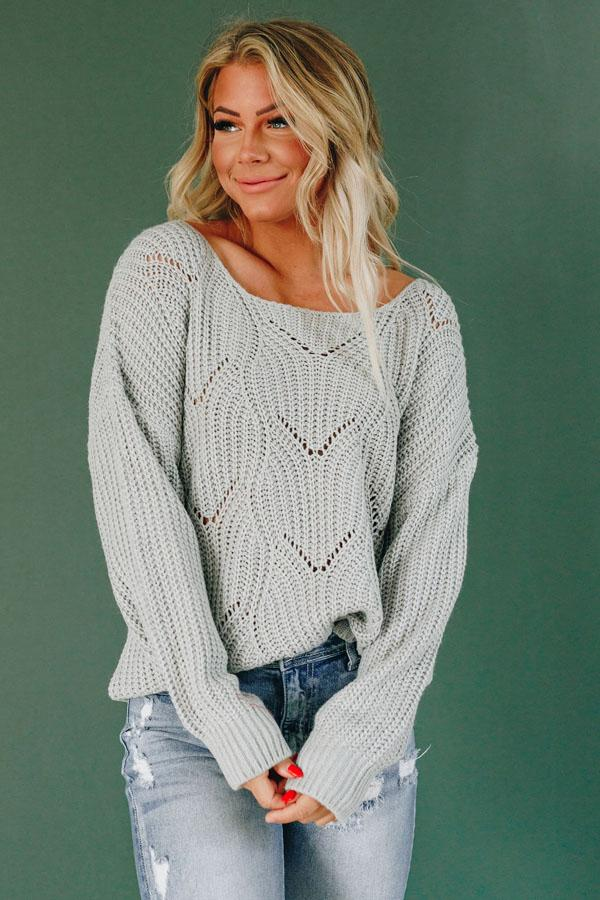 Milton Hollow Knit Sweater