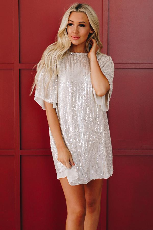 Alexis Sequin Shift Dress