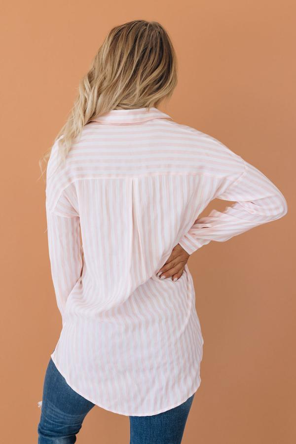 Vicky Striped Button Up Top