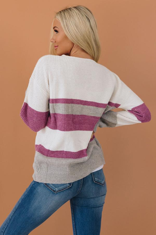 Shan Color Block Button Detail Sweater