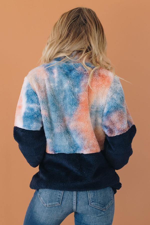 Out for a Stroll Tie Dye Fuffy Pullover