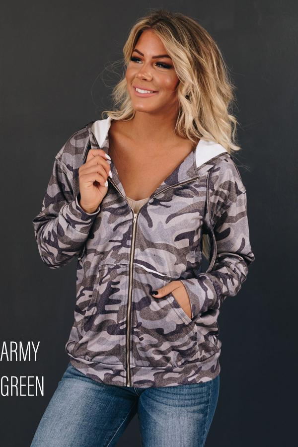 Hansen Camo Zip Up Jacket