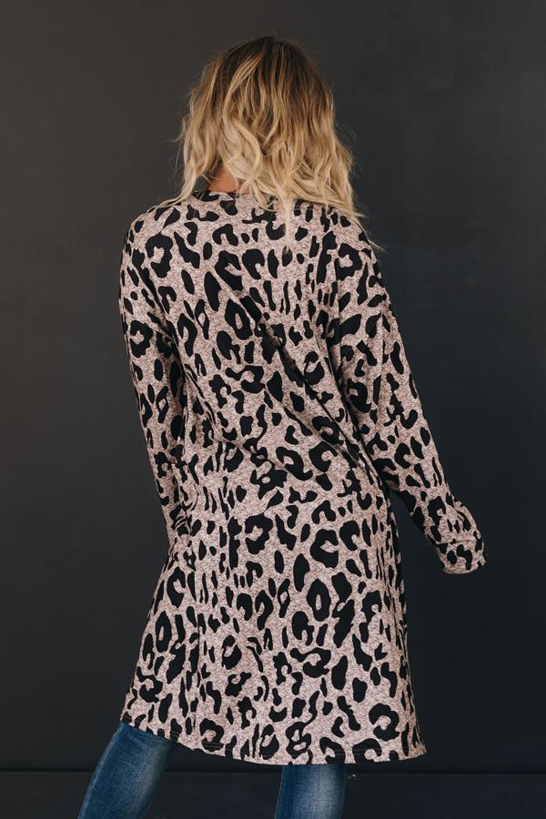 Freya Leopard Pocket Cardigan