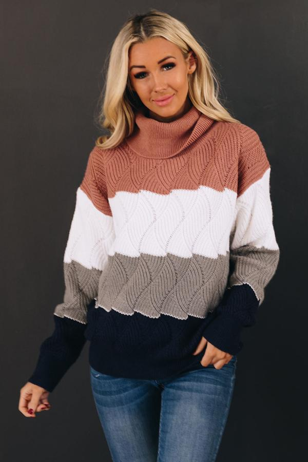 Beck Striped Turtleneck Sweater