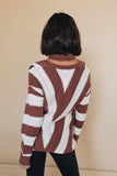 Saltzman Leopard Striped Sweater