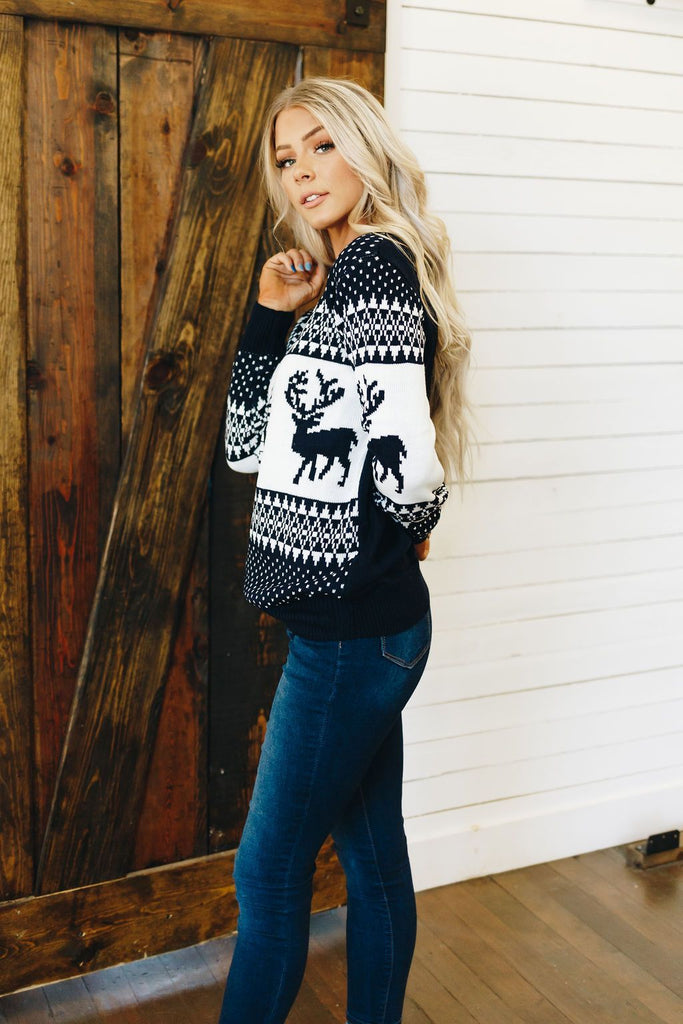 Holly Jolly Reindeer Sweater
